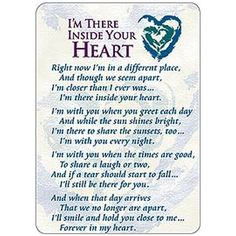 I'm There Inside Your Heart Prayer Cards - Pkg of 25