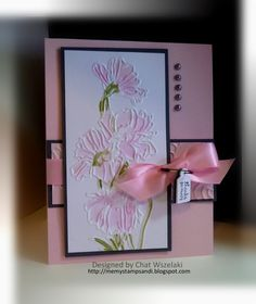 Stampin Up embossing folder Pretty Cards, Love Cards, Paper Cards, Diy Cards, Stampin Up Karten, Decoupage, Embossed Cards, Stamping Up Cards, Creative Cards