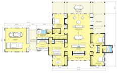 L shaped house plans modern in l shaped house floor plans. Duplex House Plans, Dream House Plans, Small House Plans, The Plan, How To Plan, Farmhouse Floor Plans, Kitchen Floor Plans, Farmhouse Style, Farmhouse Design