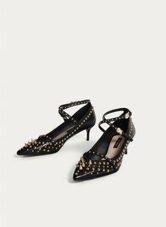 Uterqüe United Kingdom Product Page - New in - View all - Studded high heel court shoes - 115