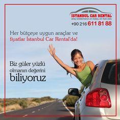 Her bütçeye uygun araçlar ve fiyatlar İstanbul Car Rental'da! #iyihaftalar #araçkiralama #rentacar  Bize Ulaşın: +90 216 611 81 88 Whatsapp: +90 542 476 13 45  www.sabihagokcenrentacar.de www.istanbulcarrental.de