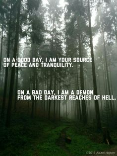 #good #bad #peace #tranquility #demon #hell
