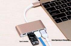 4 in 1 Type C To 3 Port USB 3.0 HUB 2.0 USB-CFor Macbook Surface Pro, 4 In 1, Macbook Pro, Mp3 Player, Usb, Type