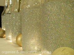 flessen versieren glitter