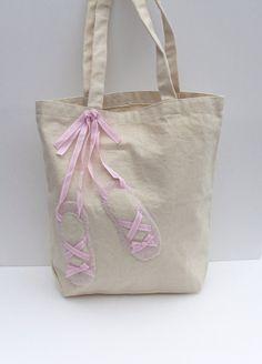 Ballet tote bag. $20.00, via Etsy.