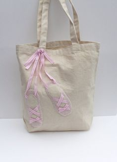 Ballet tote bag. $20.00, via Etsy.