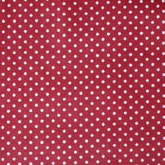 Bavlněná látka Bílý puntíček na vínové Scrappy Quilts