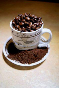 #Coffee beans in a mug