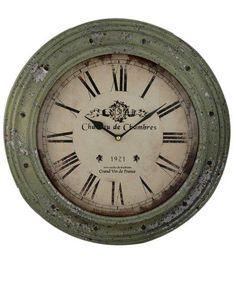 Relógio vintage com números romanos Linha Home Marcia Mello. #decoracao http://loja.marciamello.com.br/casa/relogios