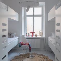 CESTA - table lamp, designed  by Miguel Milá. Photo by: finredaren: Compact Living a la Finredaren #myhome #compactliving #children #room #bunkbeds #interior #design #cestita #santacole #giovannimotta #bosa #missonihome #fritzhansen #armadillo #acnejunior #barnrum #dybeckbygg #gamlastan #stockholm Photo: #annenyblaeus Thanks for sharing!