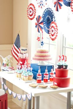 Red White and Blue 4th of July Party - Bella Paris Designs