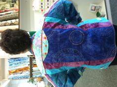 The back of the Confetti Jacket is just as fun as the front.  Made with Batiks.
