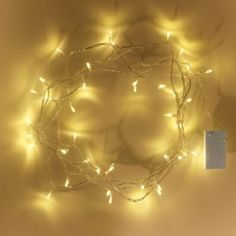 20 Warm White LED Battery Operated Silver Wire Fairy Lights £3 99