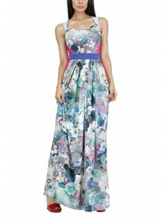Floral Printed Gown by Siddartha Tytler   Indian Designers   Long Dresses