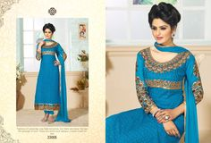 Blue Awsome georgette suit with beautiful embroidery on it @ Rs 1399 only. Cash on Delivery available 99 extra. Cash on Delivery at Rs 99 extra Cheap Deals, Straight Cut, Royal Blue, Shop Now, Fashion Accessories, Sari, Suits, Elegant, Best Deals