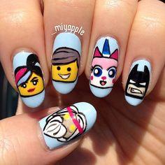 _miyapple lego movie #nail #nails #nailart