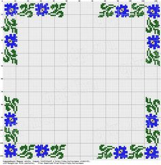 Crochet Border Stitch Doing just the corners would solve the problem of making a border fit evenly around a custom design. Wedding Cross Stitch Patterns, Counted Cross Stitch Patterns, Cross Stitch Charts, Cross Stitch Designs, Cross Stitch Embroidery, Embroidery Patterns, Cross Stitch Boarders, Cross Stitch Rose, Cross Stitch Flowers