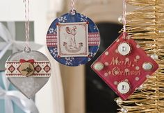 French General DIY Christmas ornaments