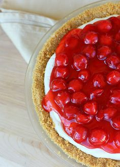 Irresistible Cherry Cheese Pie and so easy to make!