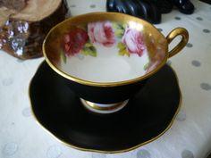 Royal Albert Old English Rose  - Matte Black