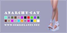 Anarchy-Cat: Madlen`s Serafino Sandals • Sims 4 Downloads