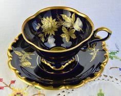 Lindner Kueps Bavaria real cobalt cup and saucer