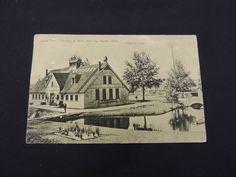 1909 State Trout Hatchery Postcard Paris Michigan Big Rapids Fishing Sport Lake