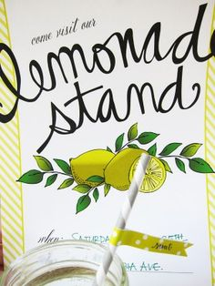 Have a Lemonade Stand a(and donate to Alex's Lemonade Stand) | Lemonade stand printables by Miss Wyolene for The Sweetest Occasion