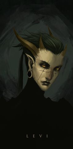 Levi by Banished-shadow tiefling demon devil armor clothes clothing fashion player character npc | Create your own roleplaying game material w/ RPG Bard: www.rpgbard.com | Writing inspiration for Dungeons and Dragons DND D&D Pathfinder PFRPG Warhammer 40k Star Wars Shadowrun Call of Cthulhu Lord of the Rings LoTR + d20 fantasy science fiction scifi horror design | Not Trusty Sword art: click artwork for source