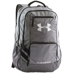 Under Armour Storm Hustle Backpack ($55) ❤ liked on Polyvore featuring men's fashion, men's bags, men's backpacks, graphite and under armour
