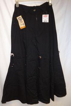 NEW NOS VTG 80's 90's Circle T 5/6 Skirt Western Skirt Silver Conchos Rodeo Long #Circlet