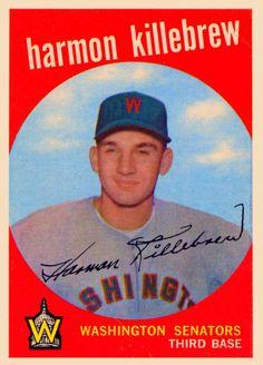 1959 Harmon Killebrew Baseball Card MLB Hall of Famer Baseball Batter, Twins Baseball, Baseball Park, Better Baseball, Baseball Photos, Sports Baseball, Baseball Stuff, Baseball Card Values, Basketball Cards