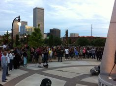 John Hope Franklin park provided the perfect location for the vigil.