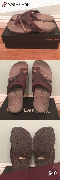 Sandals Merrel sandals, very comfy, you can run marathon in them. Been worn twice, still in the perfect new condition. Merrell Shoes Sandals