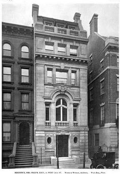 The Frederick Edey residence designed by Warren & Wetmore c. 1901.