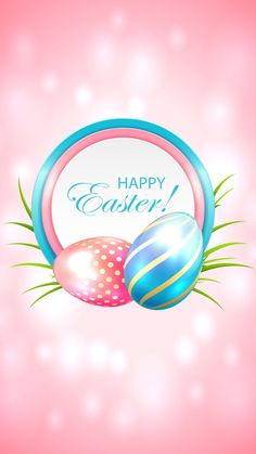 Buy Easter Card with Blue and Pink Eggs by losw on GraphicRiver. Easter card with blue and pink eggs, illustration. Easter Wallpaper, Cute Wallpaper For Phone, Holiday Wallpaper, Cellphone Wallpaper, Easter Peeps, Happy Easter, Easter Card, Easter Stuff, Easter Quotes