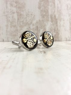 Luxury Chunky by OneDottyDuck on Etsy Gentlemans Club, Steampunk, Wedding Cufflinks, Luxury, Trending Outfits, Etsy, Unique Jewelry, Handmade Gifts, Blog