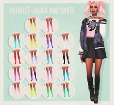 """cosmicplumbob: """" Cosmic Plumbob presents: Ombre Tights I loved the Hand Gradients by and I thought: why not have those in the legs too? And then, these were born! They come in 18 colors (Pooklet + black and white), and are perfect for. Grunge Look, 90s Grunge, Grunge Style, Soft Grunge, Grunge Outfits, Sims 4 Mods, Sims 3, Sims 4 Game Mods, Sims Four"""