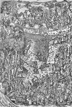 Battle of Fornoue 6 July 1495 - Italian War of - Wikipedia, the free encyclopedia Medieval Drawings, Medieval Art, Landsknecht, Modern Warfare, 15th Century, Illuminated Manuscript, Military History, Middle Ages, Renaissance