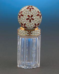 Antique Objets d'Art, Antique Scent Bottles, Diamond-Studded Perfume Bottle ~ M.S. Rau Antiques