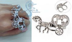 Cincin Fashion Korea Import Multiring Horse Diamond Unik