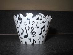 Music Note Cupcake Wrapper  Set of 12 by DyansCupcakeCouture, $4.99