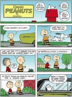 Poor Snoopy thought he was invited to dinner!