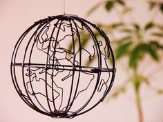 mobile sculpture GLOBE by Kallimachos on Etsy, ¥3000