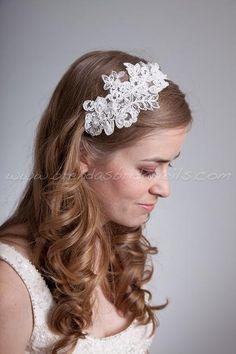 Lace Headband, Bridal Headband - Sabrina