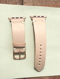 Apple Watch Rose Gold Leather Band Strap iwatch 38mm 42mm - Womens Apple watch Simple Dusted Pink Rose veg vegtable tanned Leather Lemonade