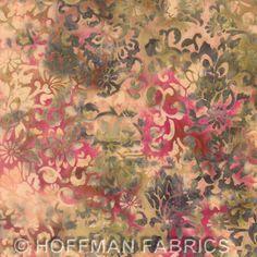 Hoffman Bali Batik - Bali Chop - Jacobean Floral Cider L2637-567