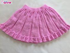 Snurr-Meg-Skjørt / Triple Skirt pattern by Knit Me Baby Knitting Patterns, Lace Knitting, Knitted Christmas Jumpers, Baby Girl Sweaters, Baby Skirt, Knitting Videos, Moda Emo, Knit Skirt, Ruffle Skirt