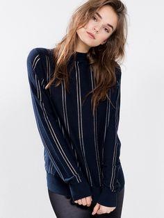 Mellbin sweater | 7165049 | Blå | BikBok | Norge