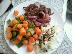 Lever met groenten